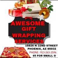 $ 5 GIFT WRAPPING SERVICES