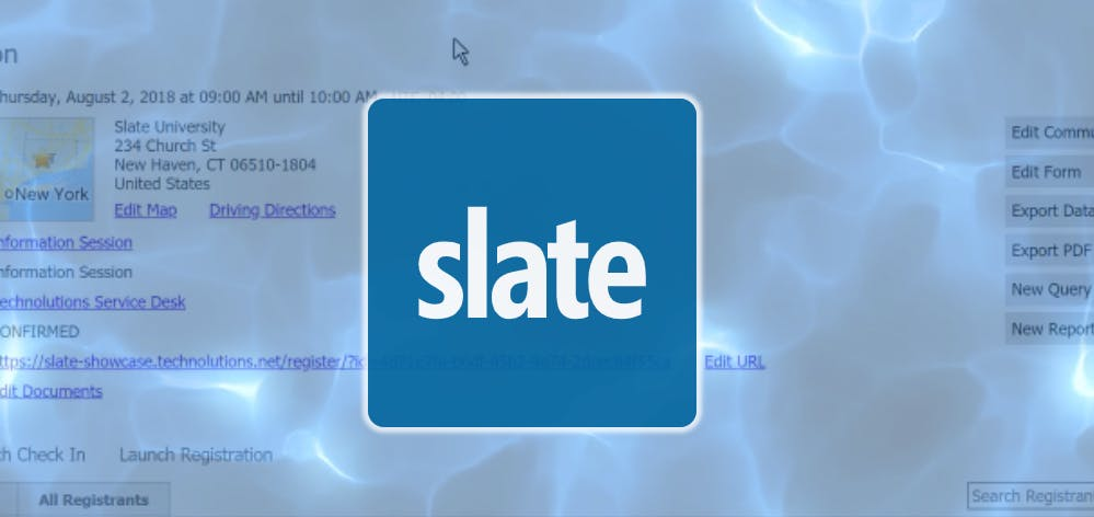 Slate Training: Intermediate Workshop (Monday
