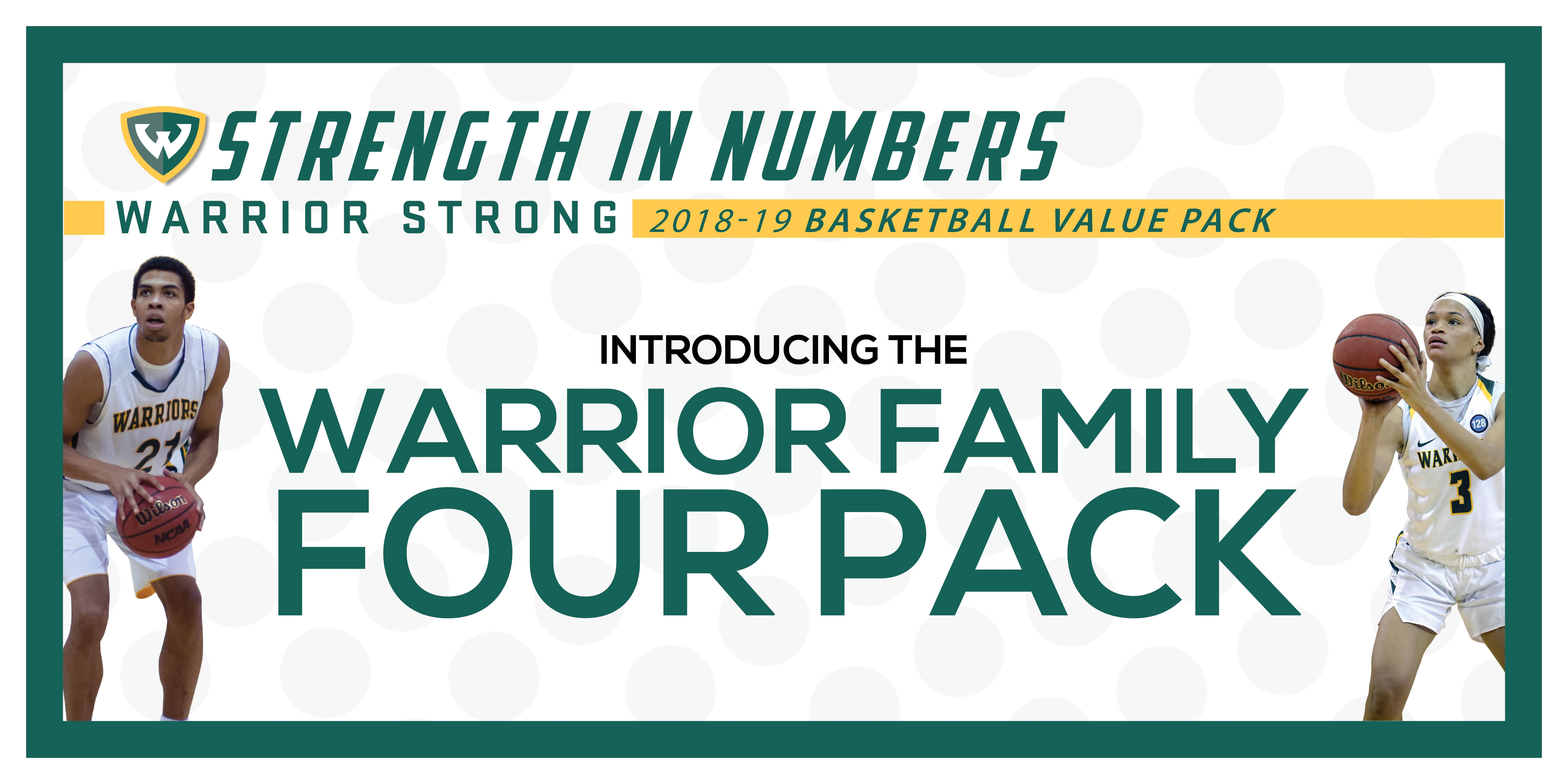 2018-2019 WSU Men's and Women's Basketball Family Four Pack