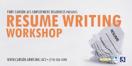 resume writing workshop tickets multiple dates eventbrite