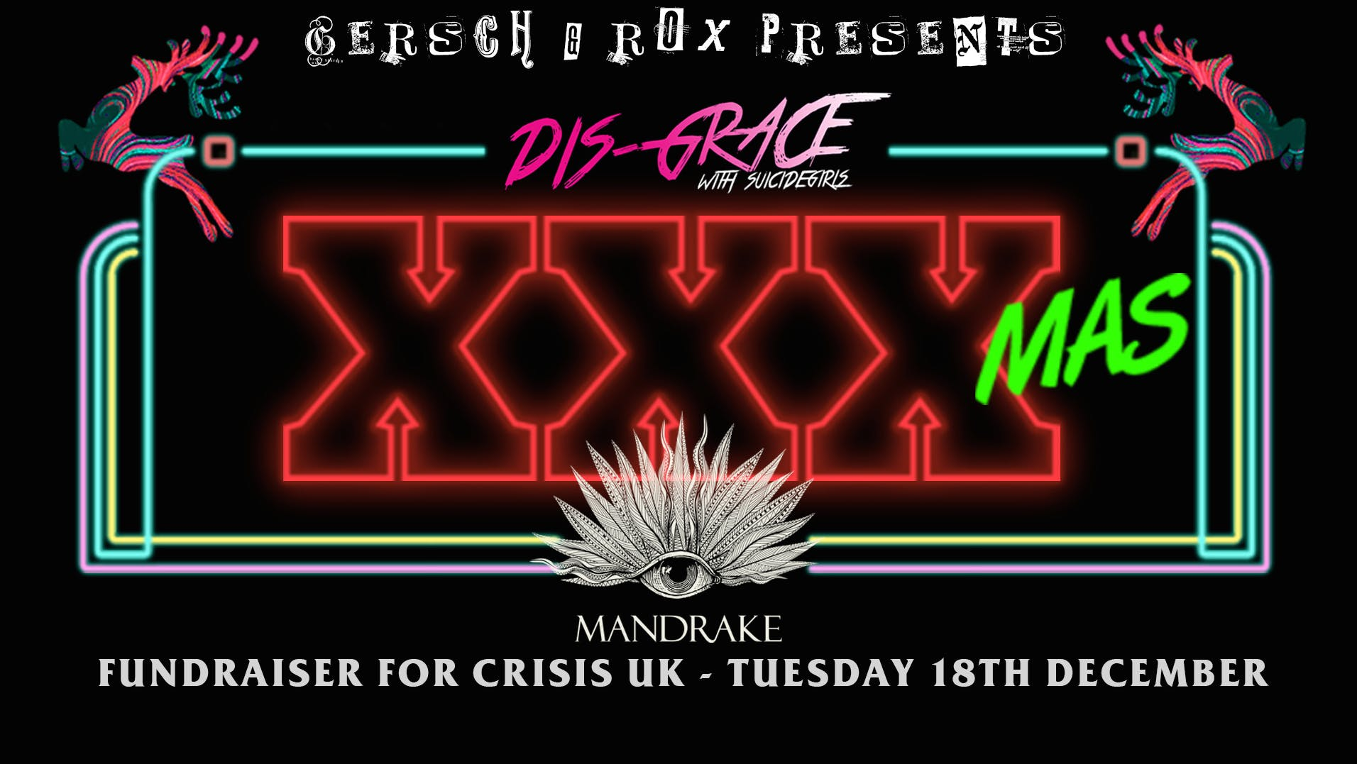 XXXmas at The Mandrake Hotel in aid for Crisi