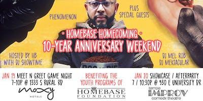 HomeBase Open Mic 10 Year Anniversary Homecoming Weekend