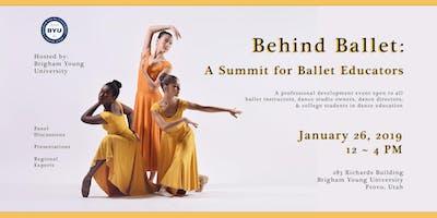 Behind Ballet: A Summit for Ballet Educators