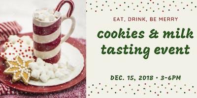 Adult Cookies and Milk Tasting