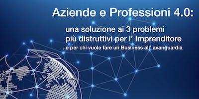 Aziende e Imprenditori 4.0: una soluzione ai 3 problemi più distruttivi per l'imprenditore e per chi vuol fare un Business all'avanguardia