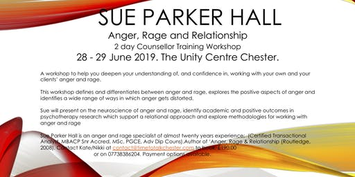 Anger, Rage and Relationship- Counsellor Training