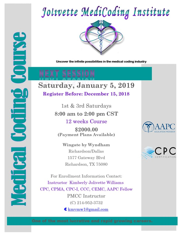 Aapc Cpc Medical Coding Certification Course Tickets Sat Jan 5