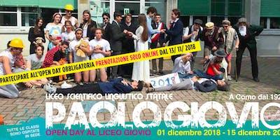 OPEN DAY - 15 Dicembre 2018 - Liceo Giovio