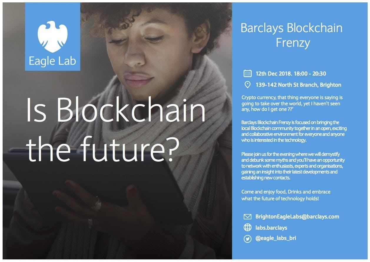 Barclays Blockchain Frenzy