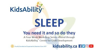 Sleep 4 Part Series- ASD Workshop brought to you by KidsAbility