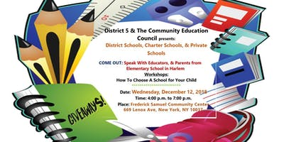 CEC5 & District 5 Office 2nd Annual Harlem School