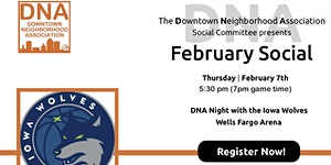 February 2019 Social at Iowa Wolves
