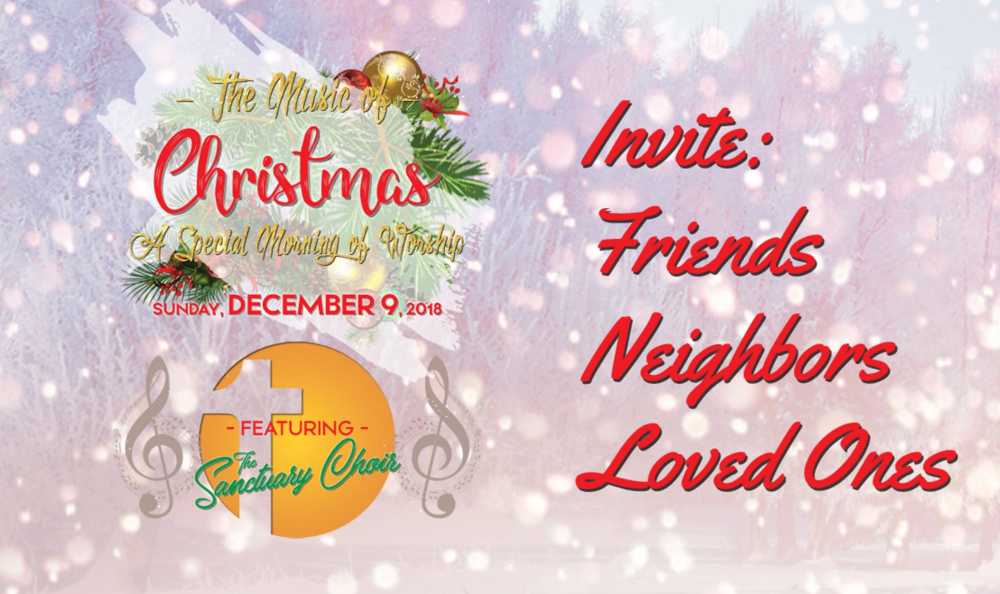THE MUSIC OF CHRISTMAS` CONCERT -- A Special Morning of Worship in ...
