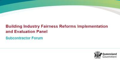 BIF Panel Subcontractor Forum