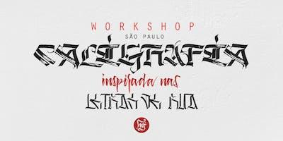 Workshop de caligrafia de ponta quadrada