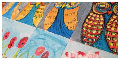 Let's Paint on Canvas Homeschool Weekly Class (5-12 Years)