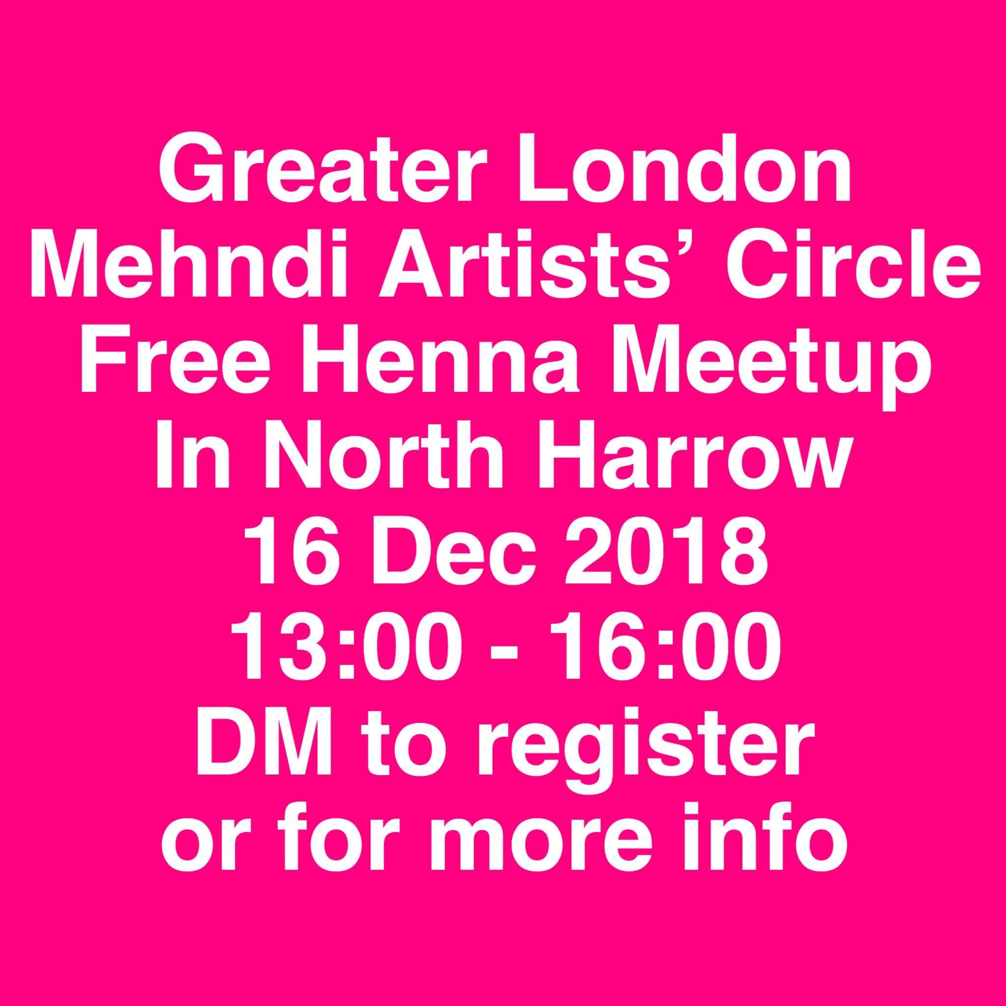 Free Henna Meetup in North Harrow