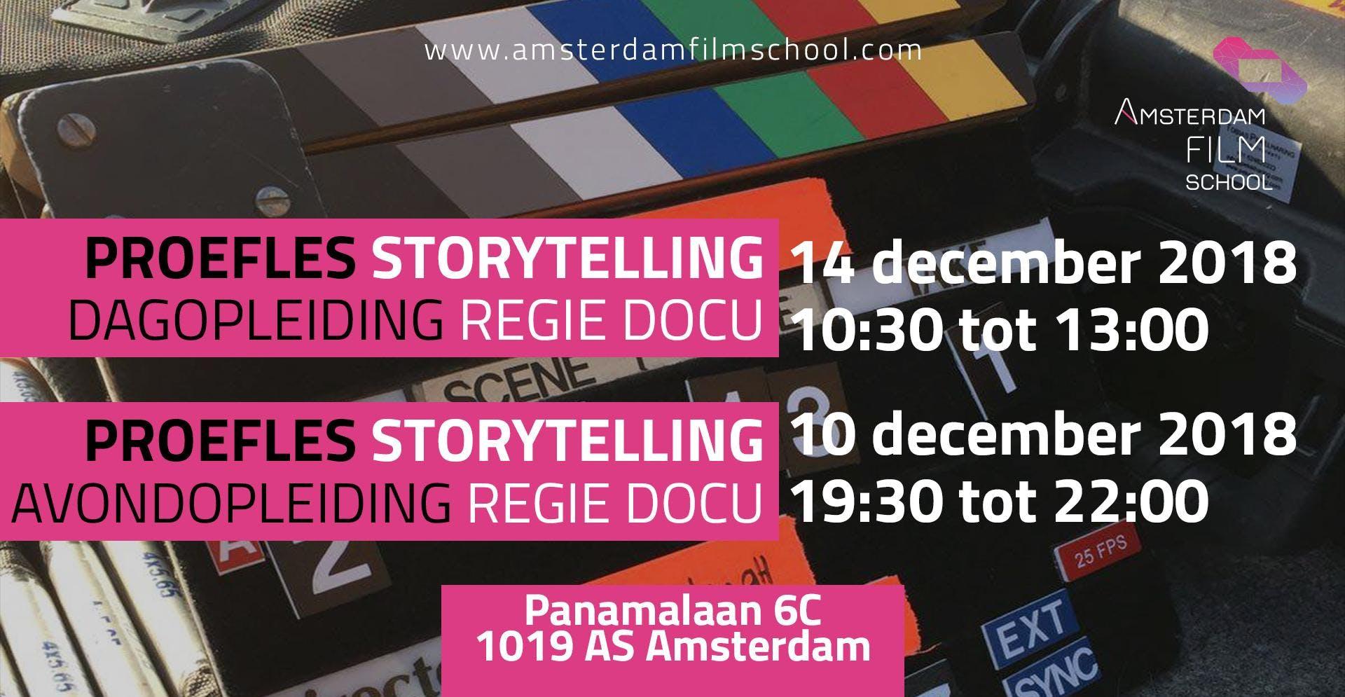 Proefles Storytelling - Regie Documentaire