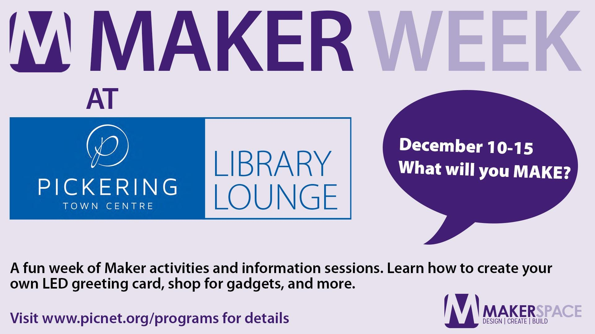 Maker Week at PTC Library Lounge