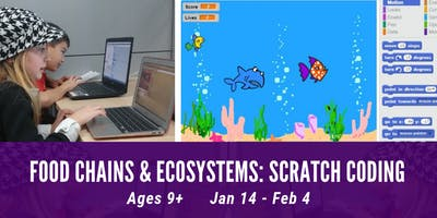 Homeschool South - Food Chains & Ecosystems: Coding with Scratch (Ages 9+)