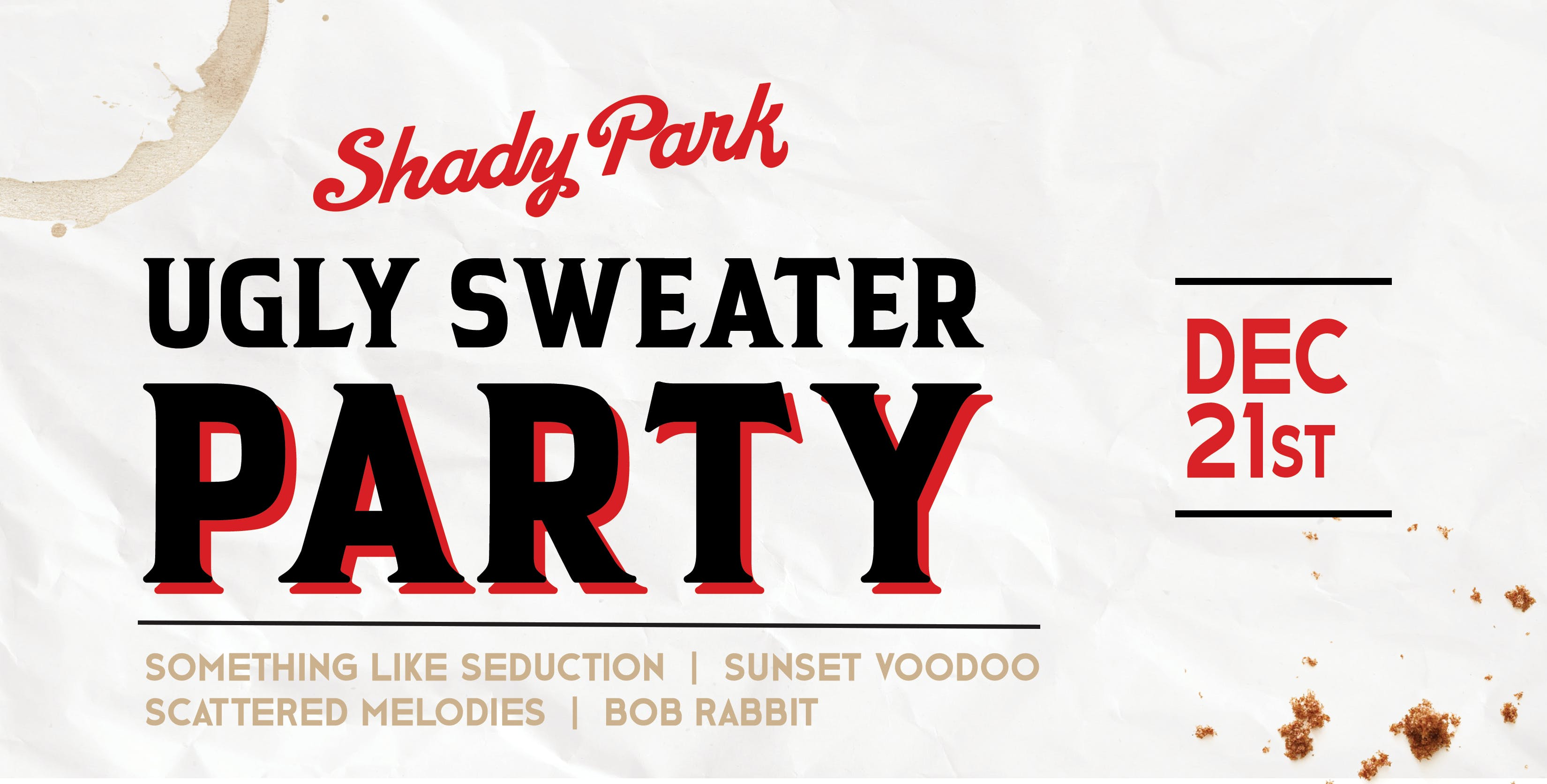 Ugly Sweater Party at Shady Park Tempe