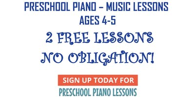PRESCHOOL PIANO LESSONS! TWO 30-minute LESSONS FREE! (must email to schedule)