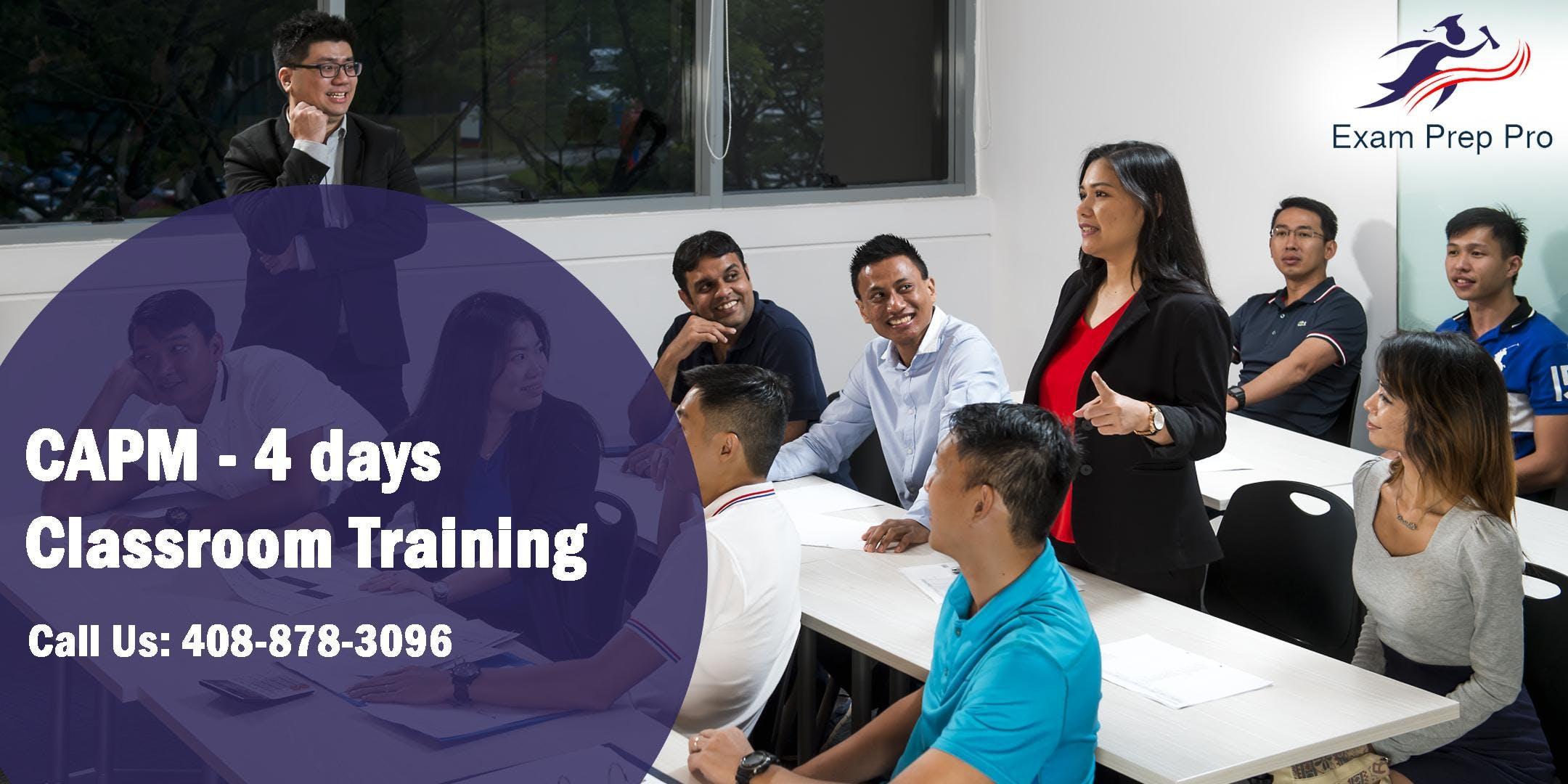 CAPM - 4 days Classroom Training  in Sacramen