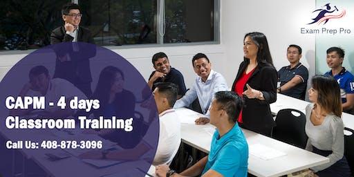 CAPM - 4 days Classroom Training  in Sacramento,CA