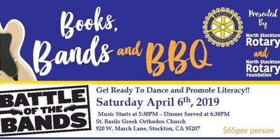 Books, Bands & BBQ - Rotary Club of North Stockton