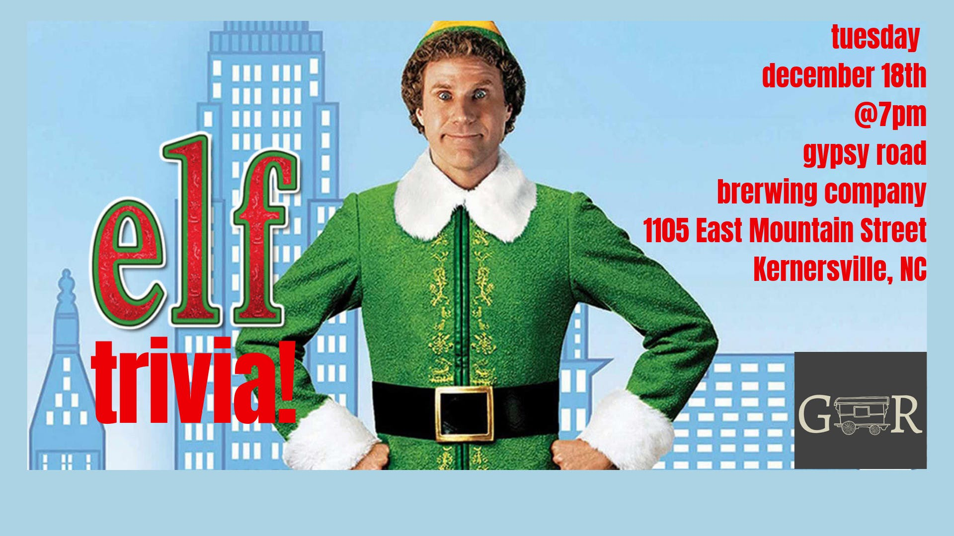 Elf Trivia at Gypsy Road Brewing Company | Kernersville