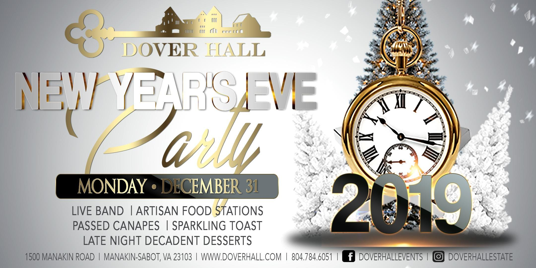 NEW YEARS EVE PARTY @ DOVER HALL