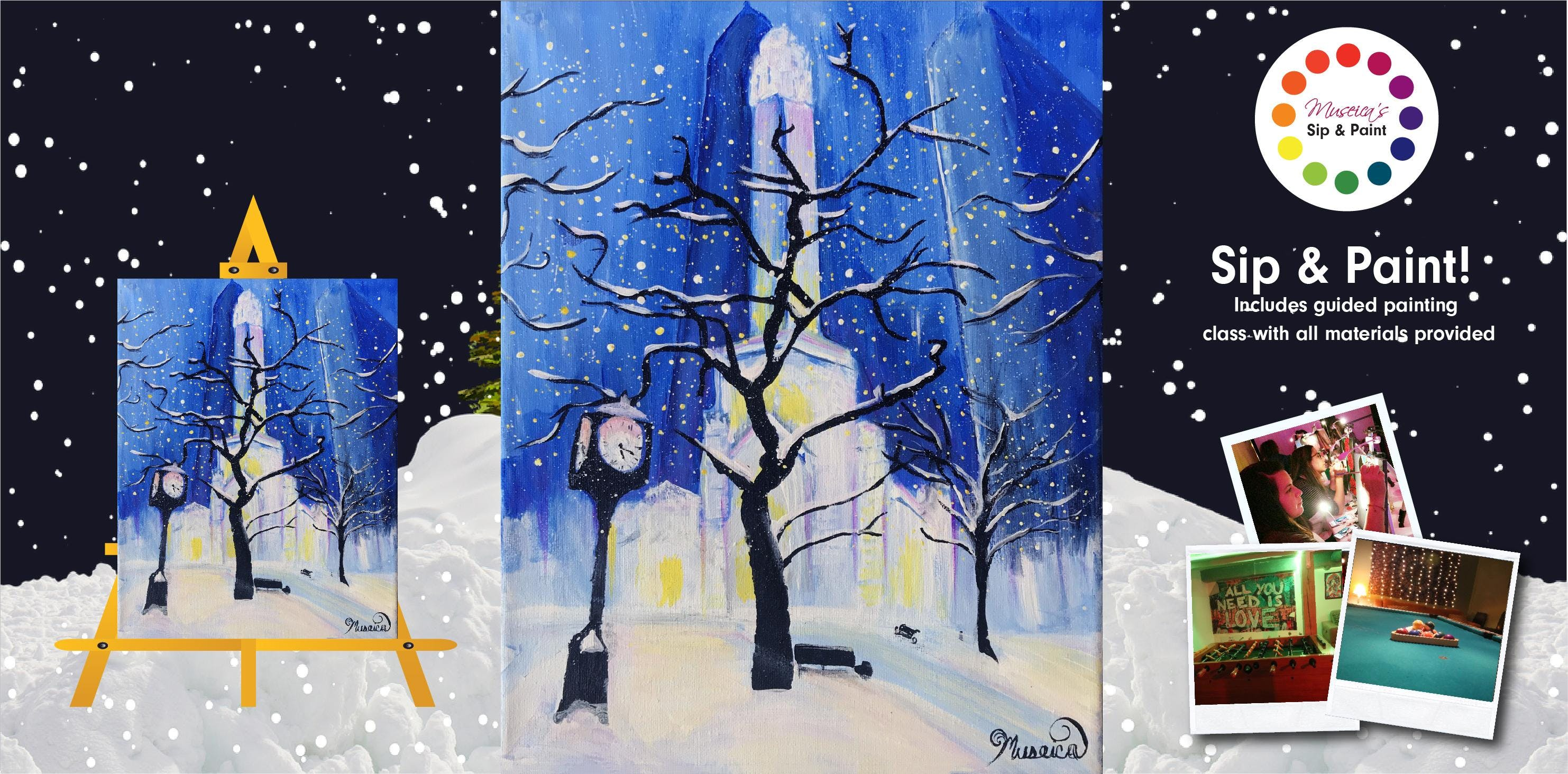 Museica's BYOB Sip & Paint - Chicago Winter W