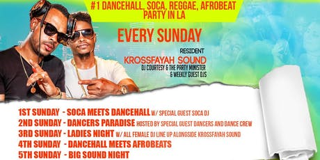 FAYAH SUNDAYS - NO.1 DANCEHALL REGGAE SOCA PARTY IN HOLLYWOOD LOS ANGELES tickets