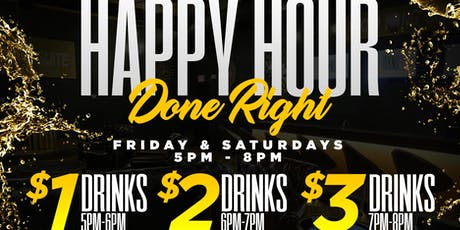 WKND Hangsuite HAPPY HOUR - $1 $2 $3 Drinks tickets