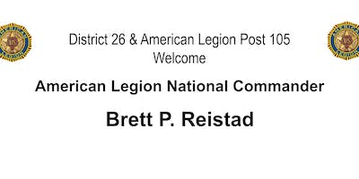 LUNCH WITH THE AMERICAN LEGION NATIONAL COMMANDER