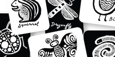 SCHOOL HOLIDAY WORKSHOP - Black and White Print Art
