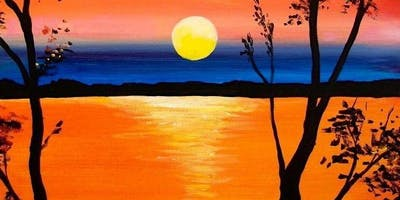 SCHOOL HOLIDAY WORKSHOP - Super Sunset Painting