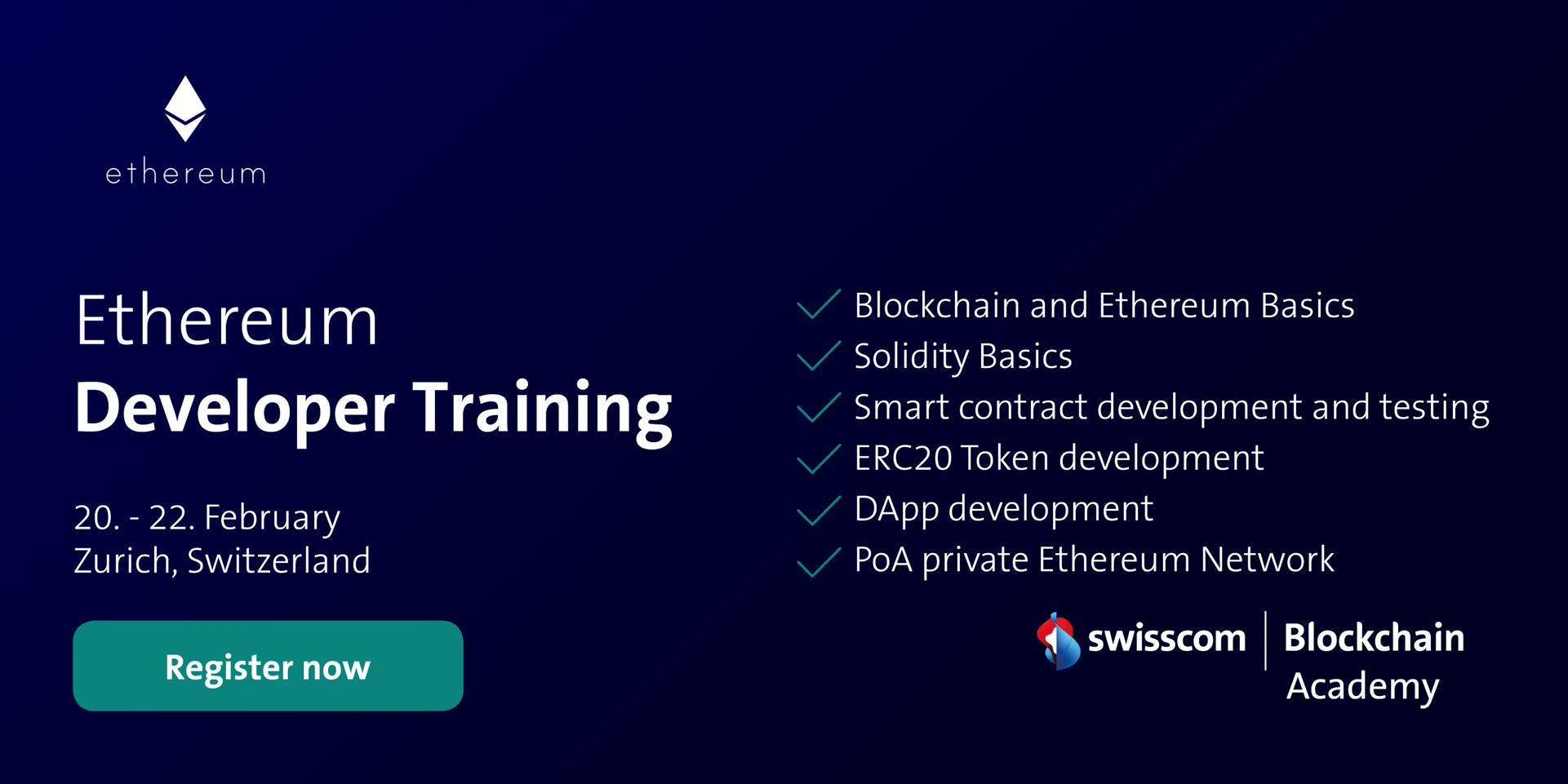 Ethereum Developer Training (February)