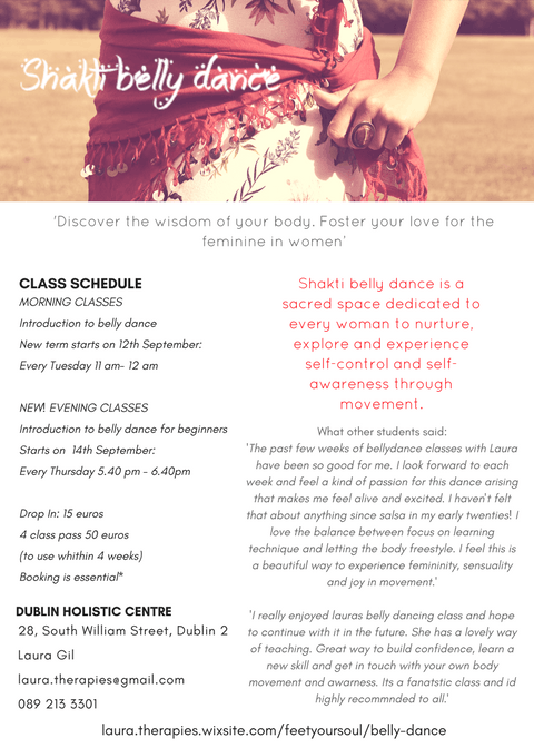 Shakti Belly Dance- 10 week course for begginers