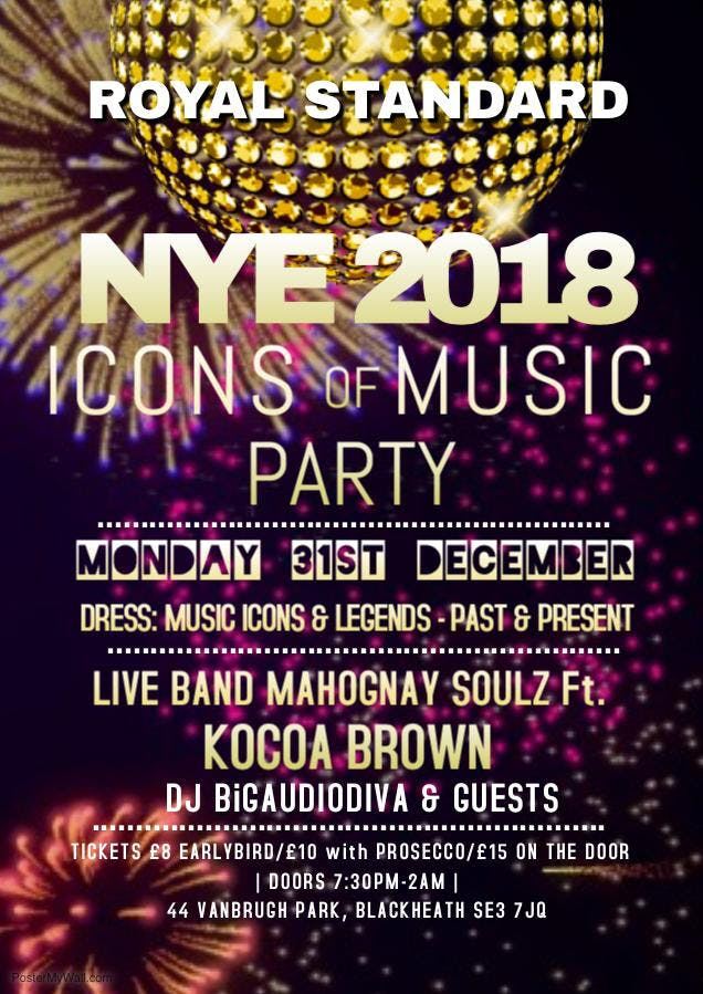 ROYAL STANDARD, ICONS OF MUSIC PARTY