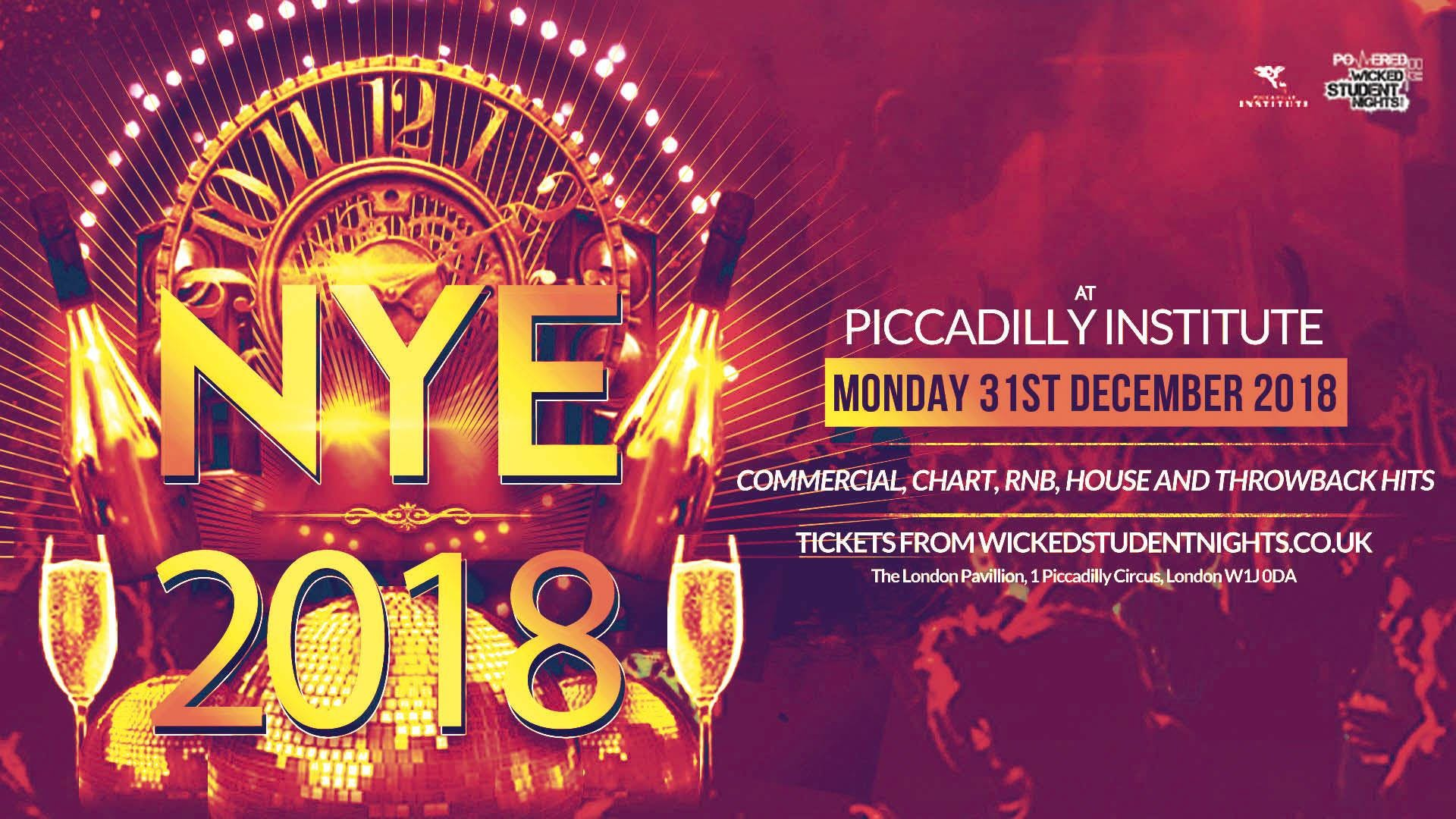 NYE AT PICCADILLY INSTITUTE