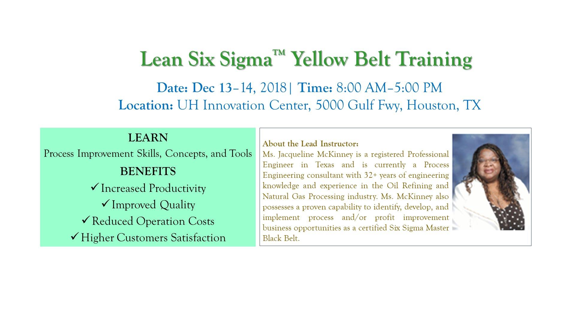 Lean Six Sigma Yellow Belt Training 13 Dec 2018