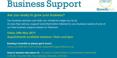FREE Business Support Session: Warwick (May)