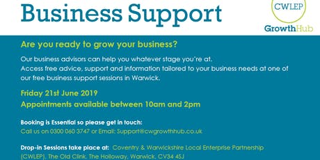 FREE Business Support Session: Warwick (June) tickets