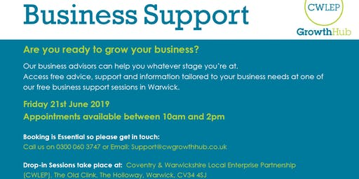 FREE Business Support Session: Warwick (June)