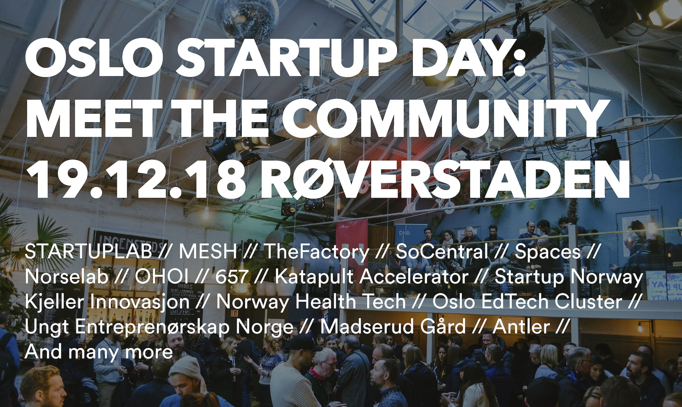 Oslo Startup Day: Meet the Community