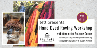 Hand Dyed Roving Workshop with Bethany Garner
