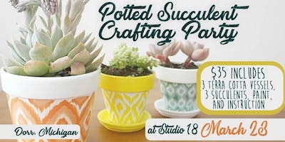 Potted Succulent Crafting Party - Dorr