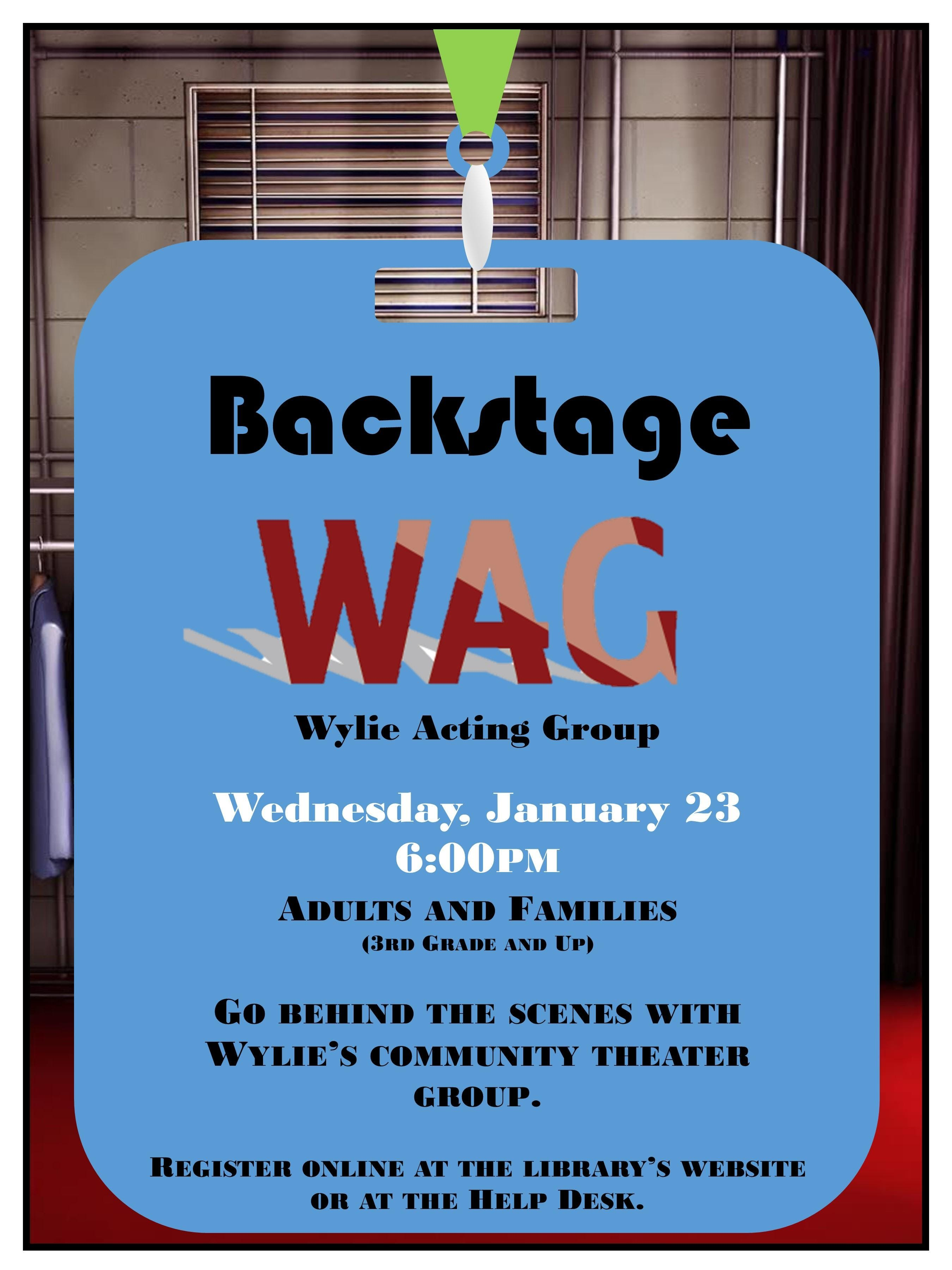 Backstage: Wylie Acting Group