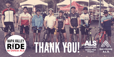 Ride to Defeat ALS - Thank You Reception!